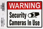 SECURITY CAMERAS IN USE - SELF ADHESIVE VINYL SIGN