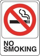 NO SMOKING SIGN - PLASTIC