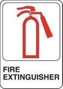 FIRE EXTINGUISHER SIGN - SELF ADHESIVE PLASTIC