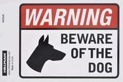 843349 BEWARE OF DOG 4 X 6 SELF ADHESIVE VINYL