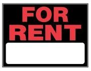 FOR RENT SIGN - 15 X 19 PLASTIC