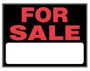 FOR SALE SIGN 15 X 19 PLASTIC