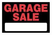 GARAGE SALE SIGN 8 X 12 PLASTIC