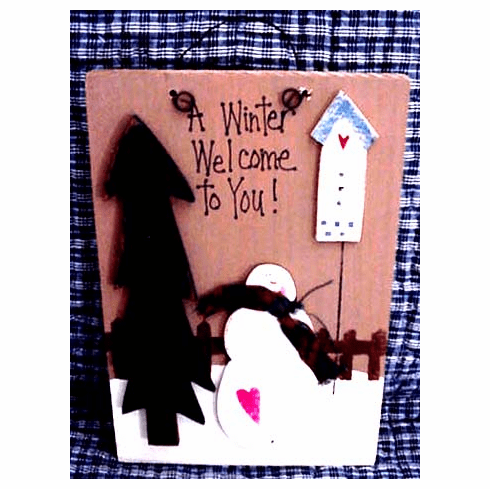 A Winter Welcome To You--Plaque