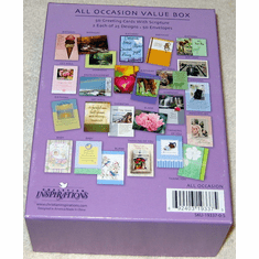 All Occasion Value Box- 50 Greeting Cards