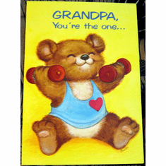 Bear Fathers Day Card