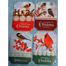 Birds Sing Praise- 12 Christmas Greeting Cards
