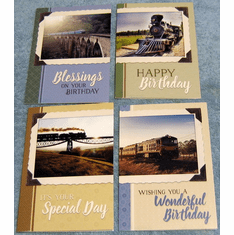 Birthday Trains - 12 Greeting Cards
