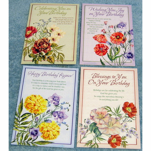 Bless Your Day- 12 Birthday Cards
