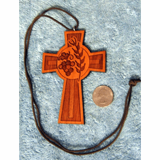 Bread & Wine Ritual Cross Necklace -7C-L