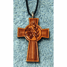 Bread & Wine Wood Cross Pendent