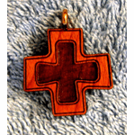 Cherry Wood Cross On Cross Pendent-40A