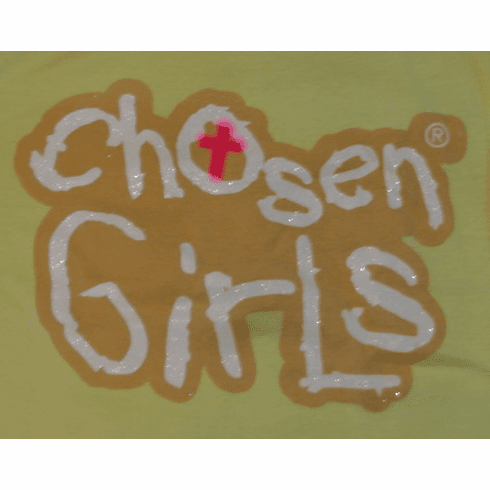 Chosen Girls youth T-shirt-Yellow