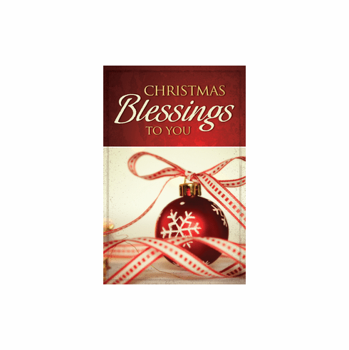 Christmas Blessings to You- Gospel Tracks- 25-Pack