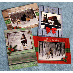 Christmas Horses-12 Greeting Cards