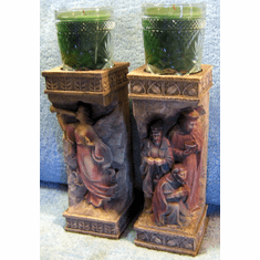 Christmas Stone Candle Holders