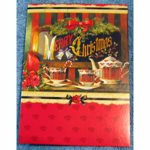 Christmas Tea- Large Blank Note Card- Pack of 25