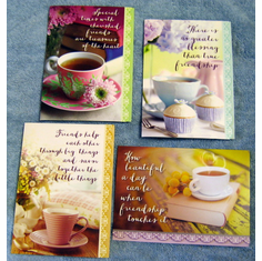 Coffee Time Friendship-12 Greeting Cards