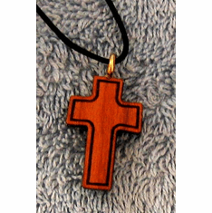 Cross By Cross-Cherry Wood Pendent-11R