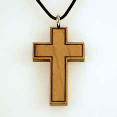 Cross By Cross-Cherry Wood Pendent-Large-12R