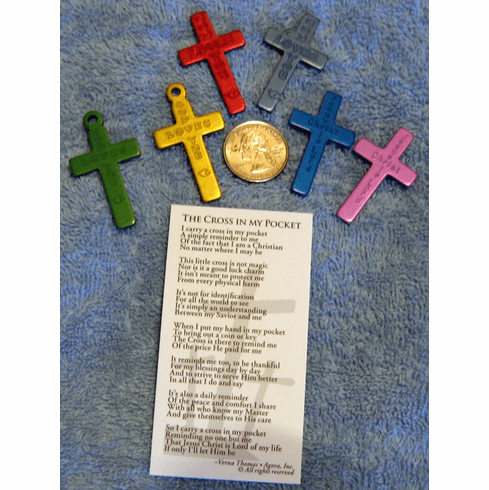Cross in My Pocket -Anodized- pack of 10