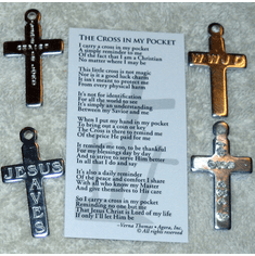 Cross In My Pocket With Hole In Top-Pack of 10