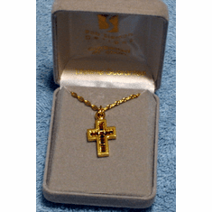 Cross With Topaz Inset Necklace