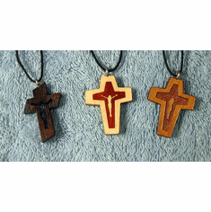 Crucifix Wood Cross Pendents