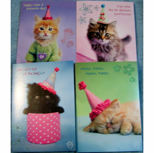 Curious Kittens - Birthday cards