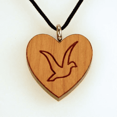 Dove On Heart Pendant-6E