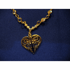 Elegant Channel Heart Pendant