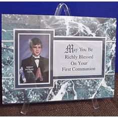First Communion Plaque--Richly Blessed