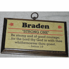 First Name Wood Plaque