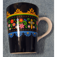 Flower & Cross-Large Mug