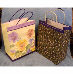 Flowers Gift Bags-Large Bags - 2 of Each