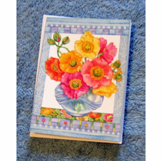 Flowers In Vase Notes with Scripture- Pack of 20