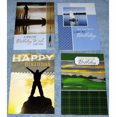 For Him Birthday- 12 Greeting Cards