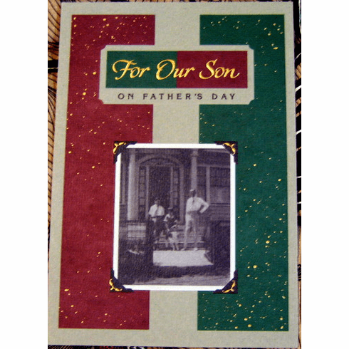 For Our Son Fathers Day Card