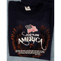 God bless America -T-Shirt-Small