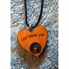 God Bless You Heart Cross Pendent-62B