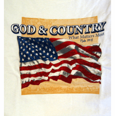 God & Country-Tee Shirt-Large
