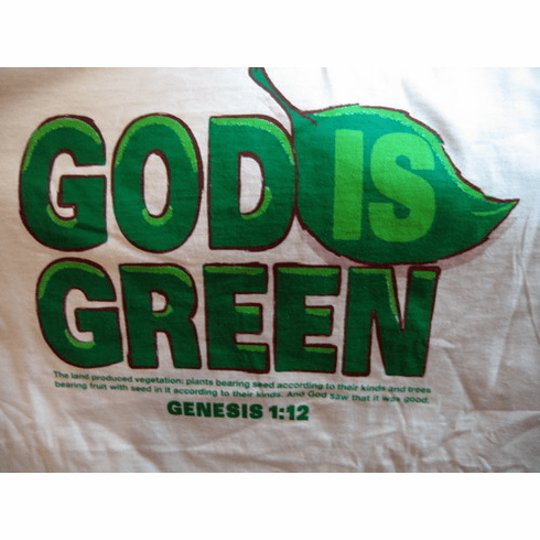 God is Green - T-shirt - Large