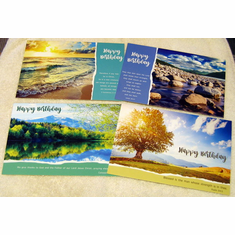 God's Majesty Birthday-12 Greeting Cards