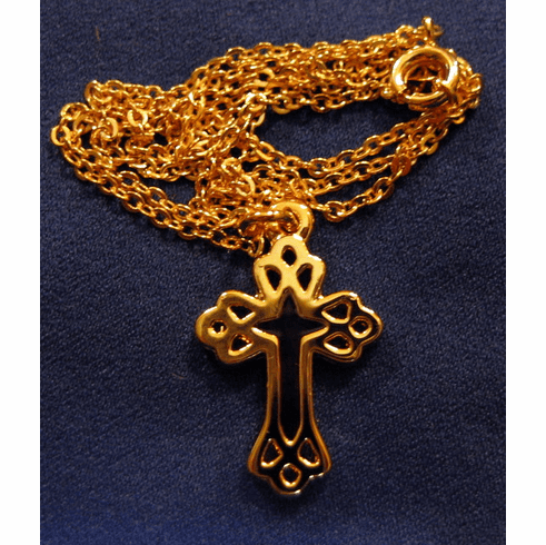 Gold Plated Cross In Cross Necklace