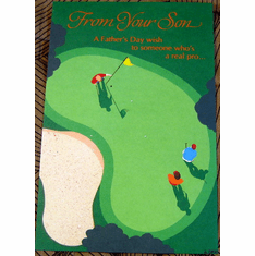 Golfing Fathers Day Card