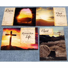 He is Risen - Easter- 12 Greeting Cards