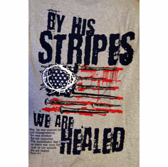 His Stripes-T- Shirt-Small