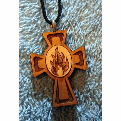 Holy Fire Wood Cross Pendent-52D