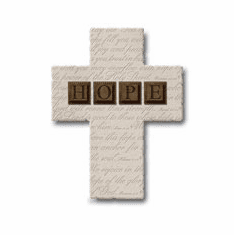 HOPE Resin Cross Plaque