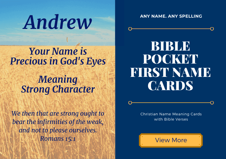 Christian Name Meaning Cards with Bible Verses. Any Name. Any Spelling.